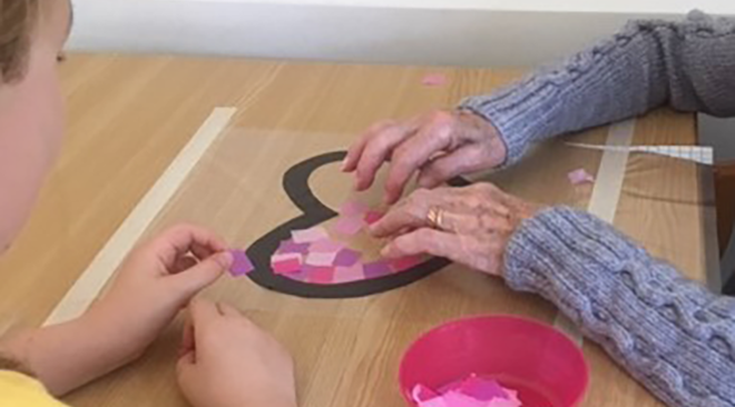 Young at Heart Intergenerational Project A Big Hit